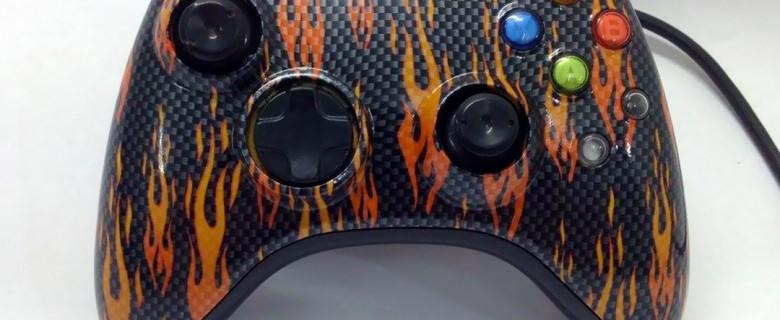 Flames & Carbon Fibre Controller